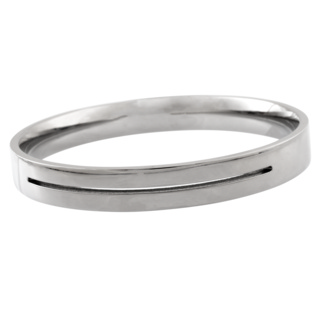 Polished Titanium Bangle with Central Groove