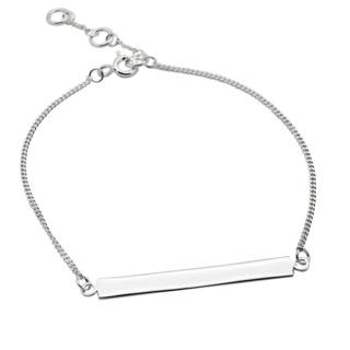 Silver ID Bar Bracelet