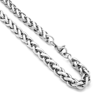 Stainless Steel Wheat Chain 8mm Necklace