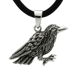 925 Silver Raven Necklace