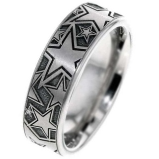 Titanium Multi Star Wedding Ring