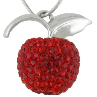 Silver Crystal Red Apple