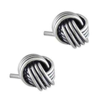 Silver Ashanti Friendship Knot Earrings