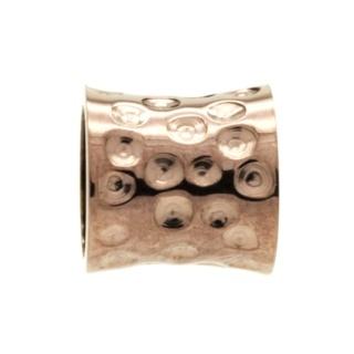 Coffee Coloured Indented Concave Titanium Bead