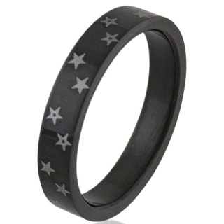 Black Star Steel Ring