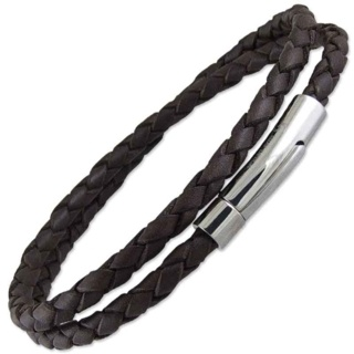 Dallas Brown Leather Bracelet