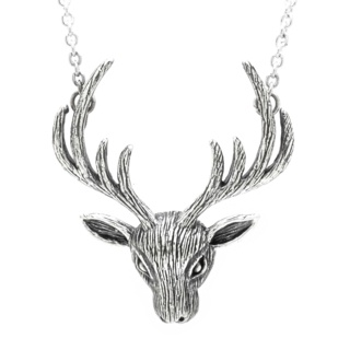 925 Sterling Silver Stag Necklace