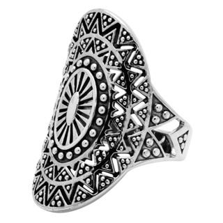 925 Silver Ethnic Mandala Ring