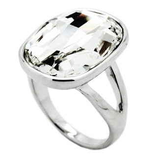 Swarovski Crystal Steel Ring