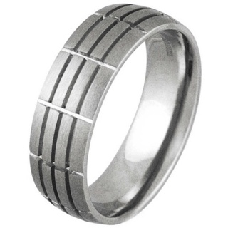 Groove Titanium Ring