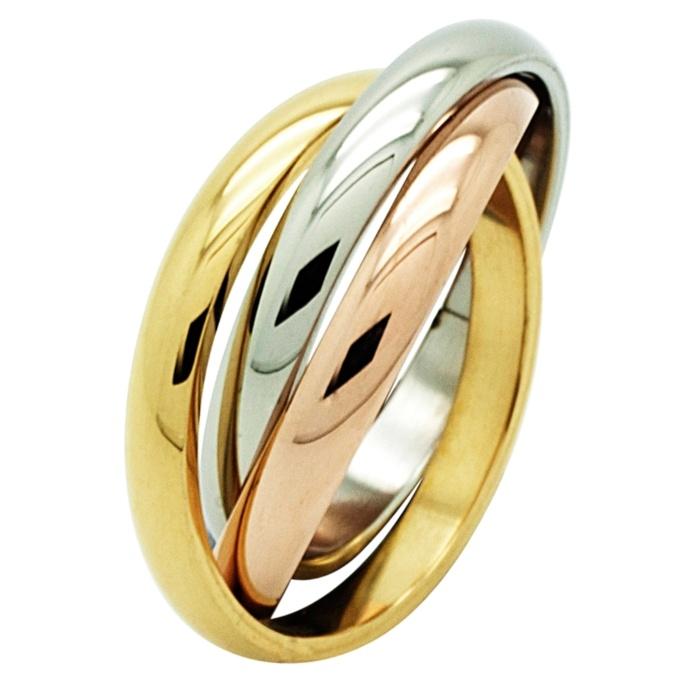 tri colour steel russian wedding ring - Russian Wedding Ring