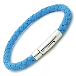 Sky Blue Bolo Leather Bracelet