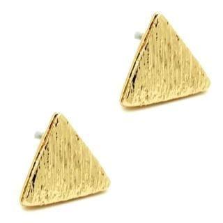 Gold Triangle Earrings