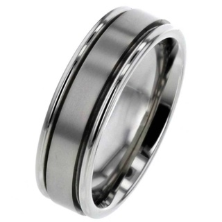 Titanium Ring with Chamber for Ashes