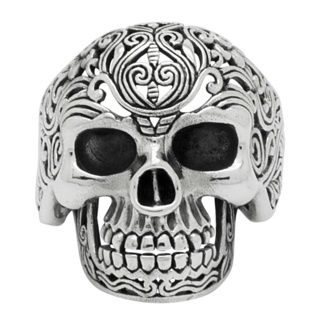 Detailed 925 Silver Skull Ring