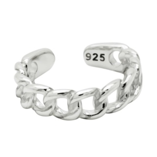 925 Silver Rope Ear Cuff