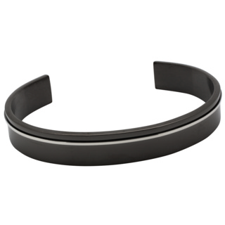 Black Two Tone Steel Bangle