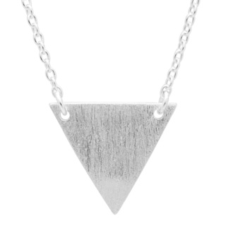 Satin Silver Triangle Necklace