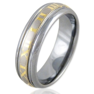 Numero Gold Tungsten Ring