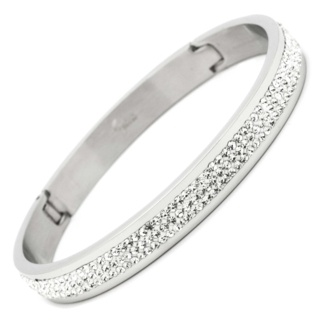 Crystal Set Stainless Steel Bangle