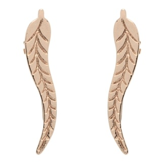 Rose Gold Tone Leaf Ear Crawler