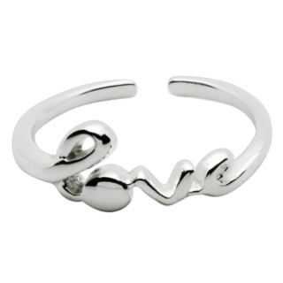 Silver Love Midi Ring