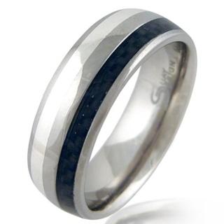 Defy Titanium & Silver Ring