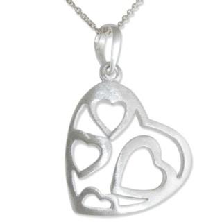 Ador Silver Heart Necklace
