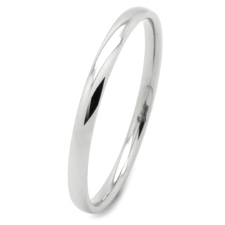 Compliment Stainless Steel Polished Ring