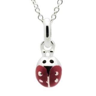 Children's Silver Ladybird Necklace