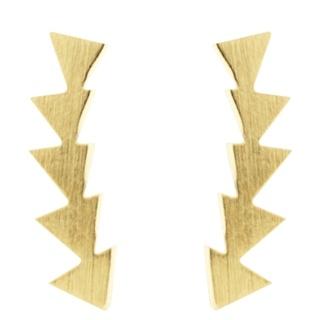 Gold Tone Arrowhead Climber Stud Earrings