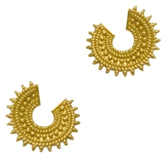 Gold Plated Silver Crescent Earrings