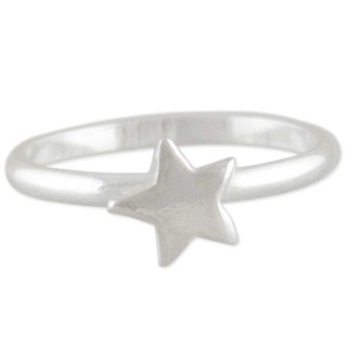 Silver Star Toe Ring