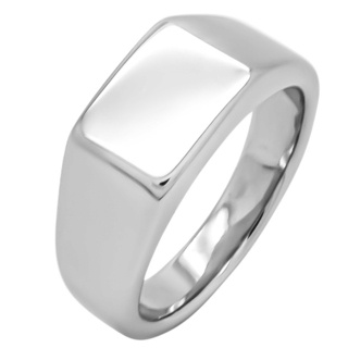925 Silver Square Signet Ring