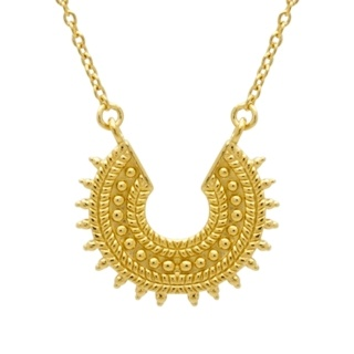 Gold Plated Silver Crescent Necklace