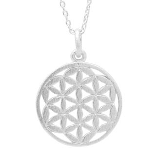 Silver Flower Of Life Necklace