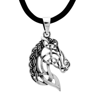 925 Silver Celtic Horse Necklace