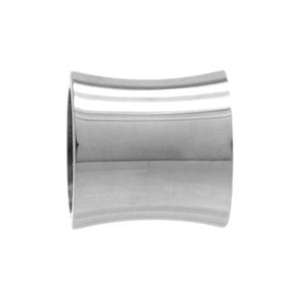 High Polished Concave Titanium Bead