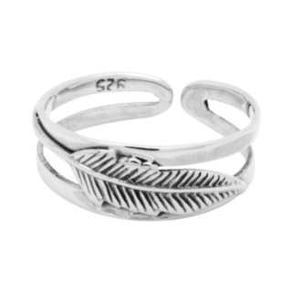 925 Silver Feather Toe Ring