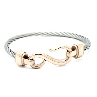 Steel Cable Fish Hook Bracelet