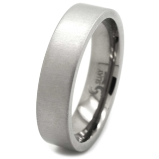Cross Brushed 6mm Titanium Ring
