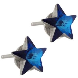 Star Struck Aqua Swarovski Earrings