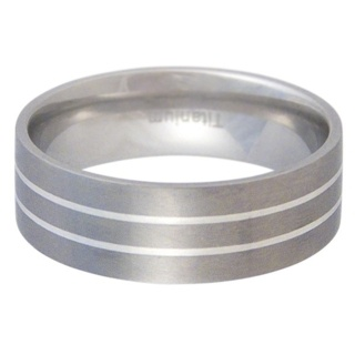 Dynamite Titanium & Silver Ring
