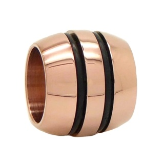 Polished Rose Gold Titanium Bead