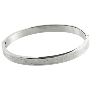Stainless Steel Star Bangle Small