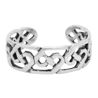 Polished 925 Silver Celtic Toe Ring