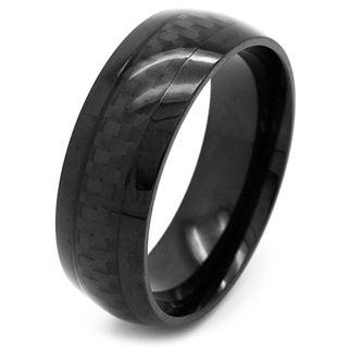 Dome Profile Black Carbon Steel Ring