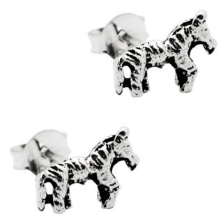 Mini Silver Zebra Earrings