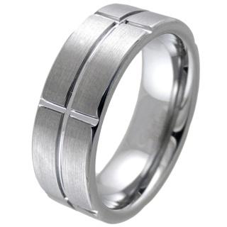 Slice Tungsten Ring