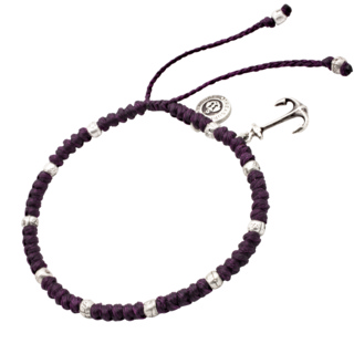 Mauve Adjustable Anchor Charm Anklet
